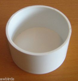 "10 x WHITE PLASTIC 2"" GRIT POTS, EGGFOOD DISH, FEEDER - BUDGET"
